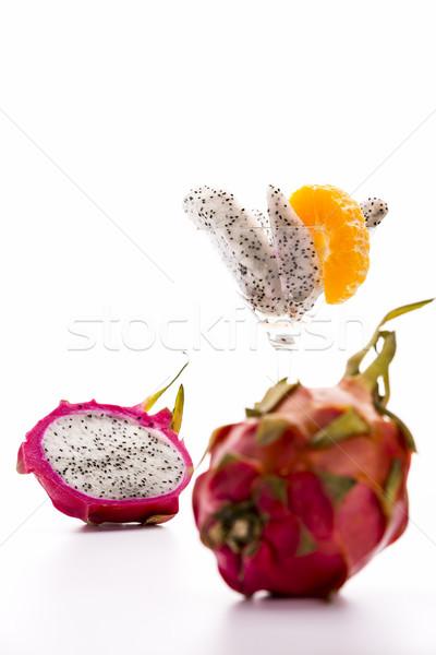 白 フルーツ 活気のある 紫色 皮膚 色 ストックフォト © leowolfert
