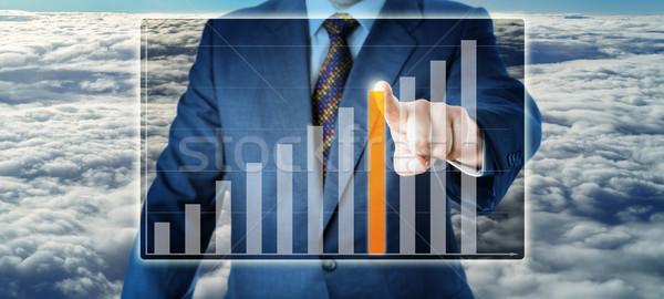Stockfoto: Torso · manager · bar · groei · grafiek