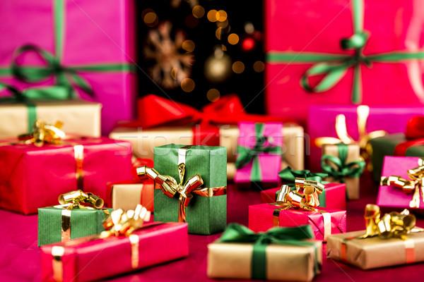 рождество подарки из Рождества представляет красный Сток-фото © leowolfert