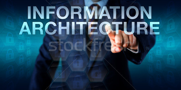Touching INFORMATION ARCHITECTURE Online Stock photo © leowolfert