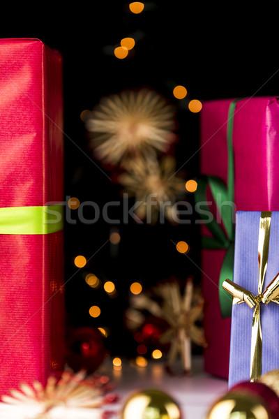 Gifts, glitters, spheres and stars Stock photo © leowolfert