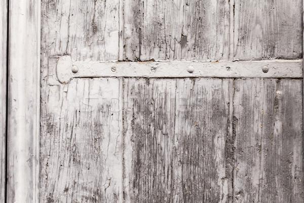 Textúra viharvert fából készült zsalugáter közelkép felület Stock fotó © leowolfert