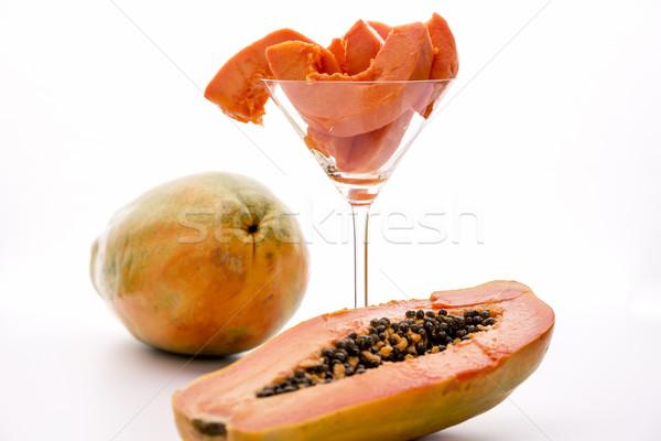Papaw fruit - full of provitamin A carotenoids Stock photo © leowolfert