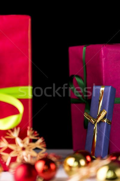 Presents, spheres and stars Stock photo © leowolfert