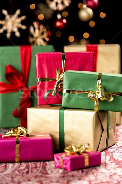 Christmas geschenken presenteert Rood Stockfoto © leowolfert