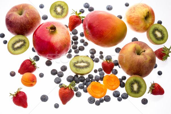 Selection Of Various Fruits Isolated On White Stock photo © leowolfert