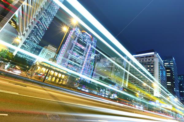 ストックフォト: 現代 · 市泊 · ビジネス · 光 · 橋 · 青