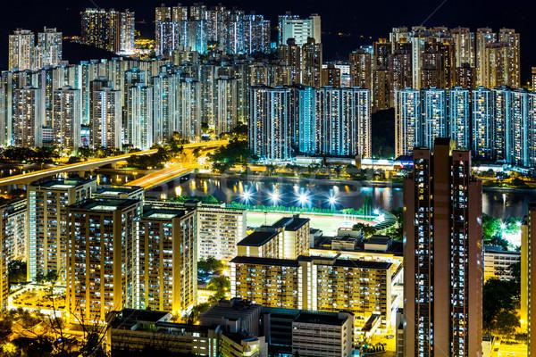 City in Hong Kong at night Stock photo © leungchopan