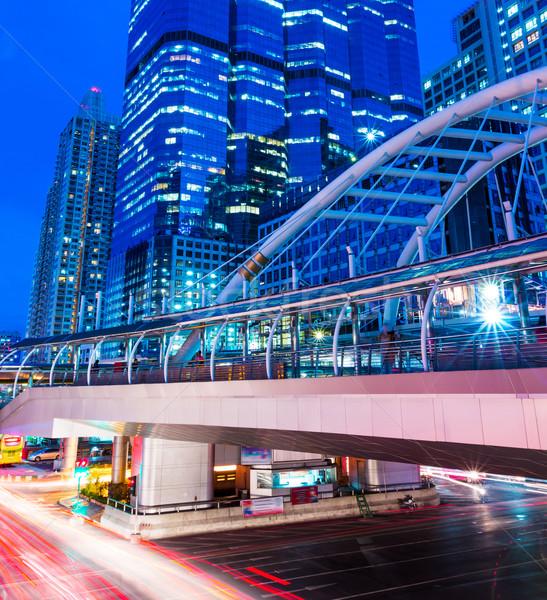忙しい トラフィック バンコク ビジネス オフィス 建物 ストックフォト © leungchopan