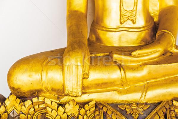 Part of the golden buddha statue Stock photo © leungchopan