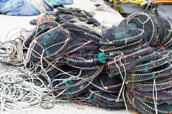 Empty seafood net traps Stock photo © leungchopan