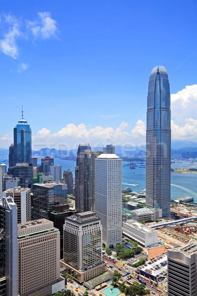 Hong Kong negocios cielo edificio ciudad Foto stock © leungchopan