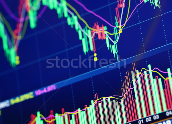 Borsa grafik para izlemek ekran finanse Stok fotoğraf © leungchopan