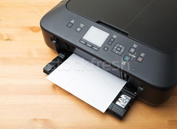 Krajowy drukarki papieru biuro technologii biurko Zdjęcia stock © leungchopan