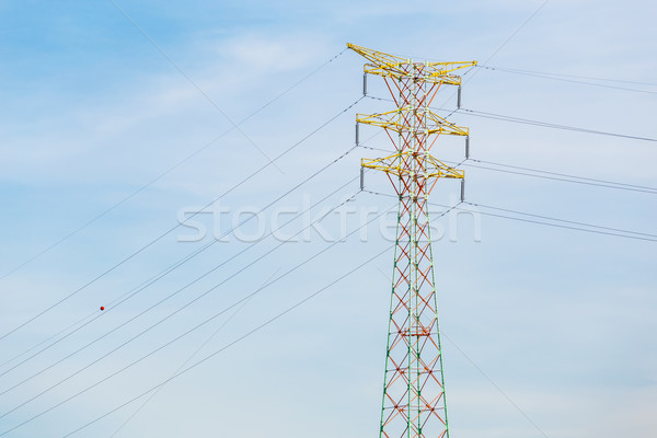 Power distribution tower cable Stock photo © leungchopan