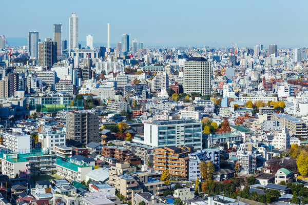 Cityscape Tokyo Bina manzara mavi kule Stok fotoğraf © leungchopan