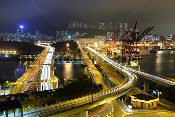Foto stock: Carga · carreteras · Hong · Kong · dinero · edificio · luz