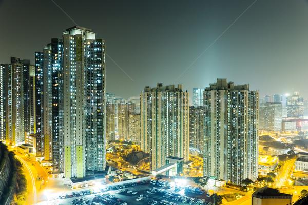 アパート 香港 ビジネス 建物 市 風景 ストックフォト © leungchopan