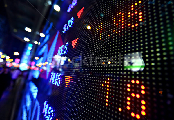 Giełdzie cena Widok streszczenie monitor niebieski Zdjęcia stock © leungchopan
