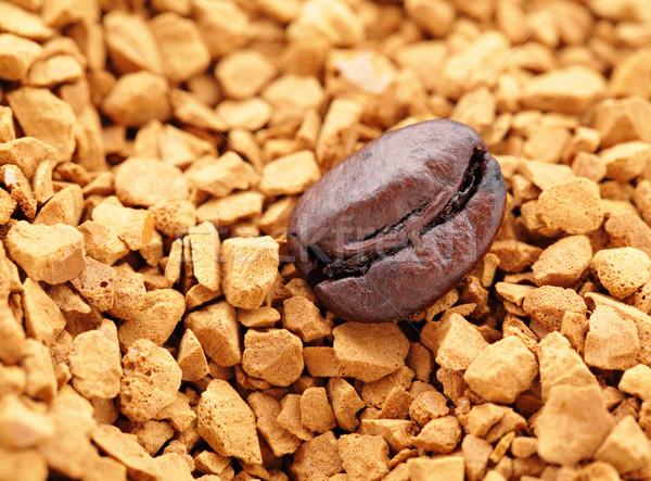 Grão de café café pó textura comida Foto stock © leungchopan