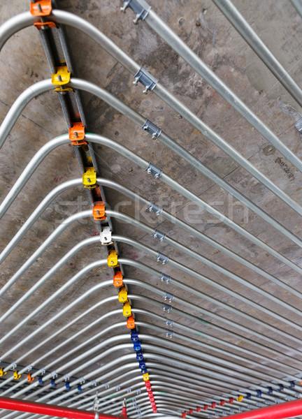 pipes on wall Stock photo © leungchopan