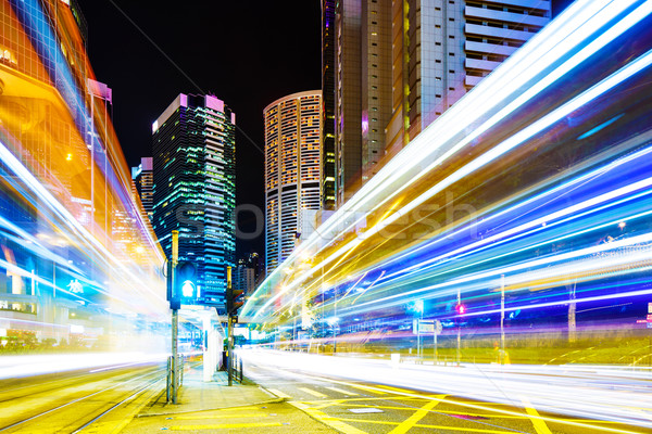 Junction of the road at night Stock photo © leungchopan