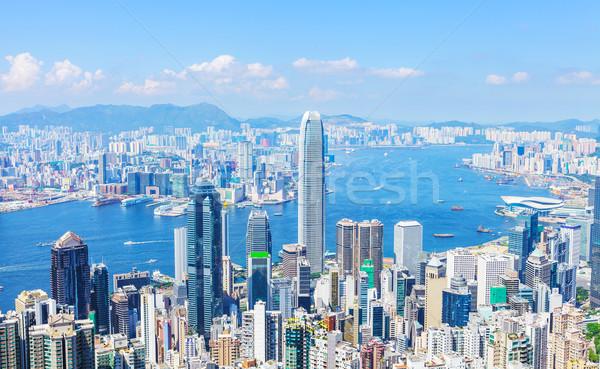 Stok fotoğraf: Hong · Kong · gökyüzü · ofis · manzara · ufuk · çizgisi · kurumsal