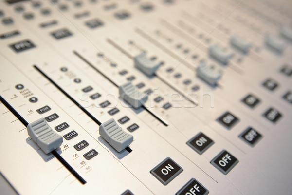 audio mixing console Stock photo © leungchopan