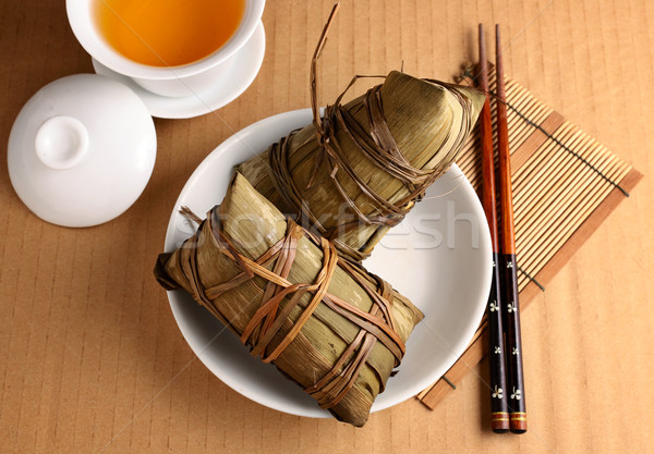 Rice dumpling for dragon boat festival Stock photo © leungchopan