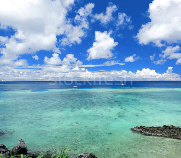 seascape in okinawa japan Stock photo © leungchopan