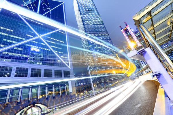 Verkeer City Night weg licht straat nacht Stockfoto © leungchopan
