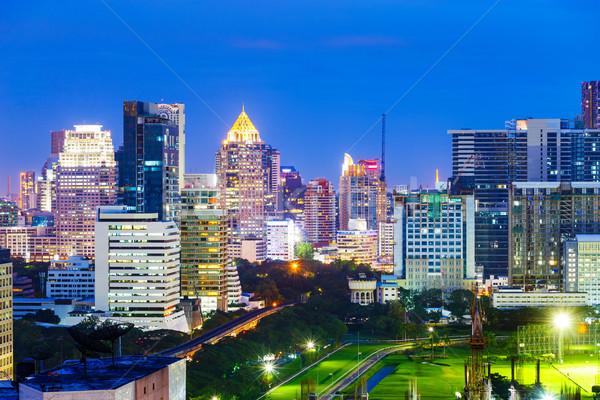 Бангкок Skyline ночь бизнеса служба здании Сток-фото © leungchopan
