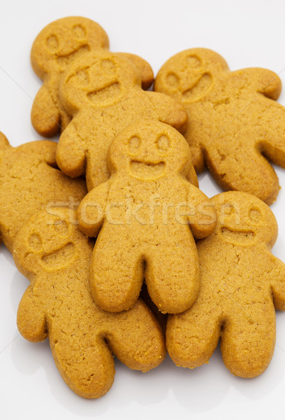 Stock photo: Pile of Gingerbread cookies