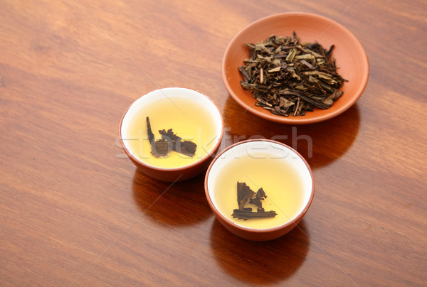 Chinese tea and dried leave Stock photo © leungchopan