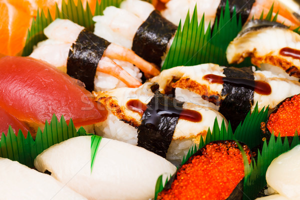Sushi , traditional japanese food Stock photo © leungchopan