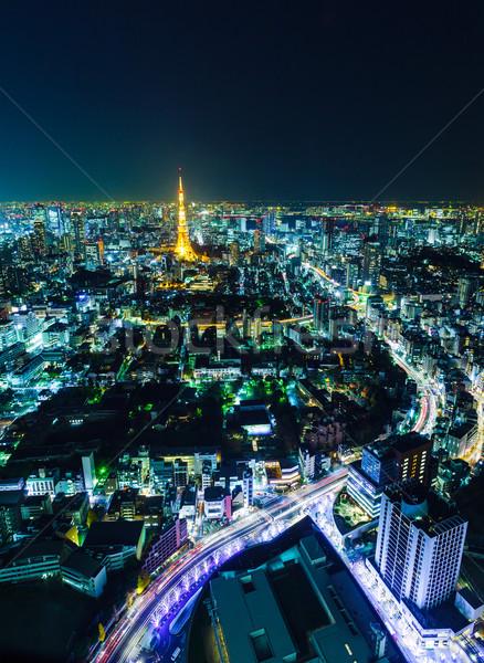 Tokio horizonte noche negocios casa empresarial Foto stock © leungchopan