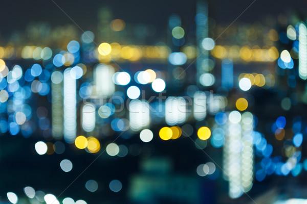 Blur cityscape at night Stock photo © leungchopan
