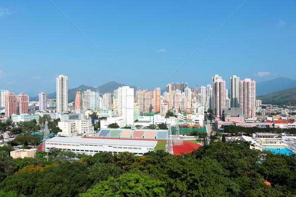 Hong Kong longo distrito negócio escritório edifício Foto stock © leungchopan