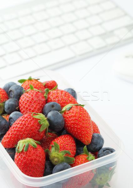 Saludable almuerzo cuadro ordenador portátil Foto stock © leungchopan