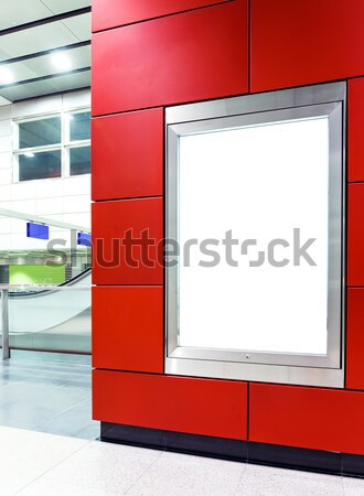 Stock photo: Blank billboard in metro station