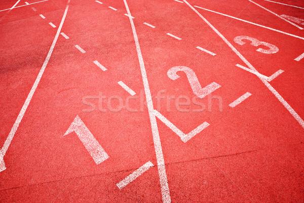 Fut útvonal textúra festék mező piros Stock fotó © leungchopan