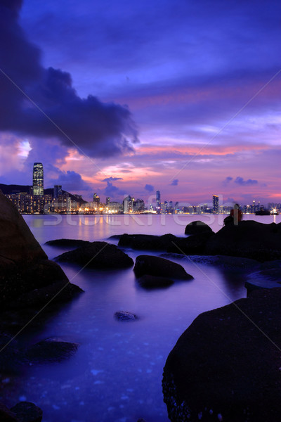 hong kong night scene Stock photo © leungchopan