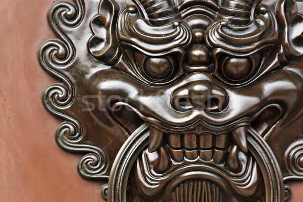 lion door knob Stock photo © leungchopan