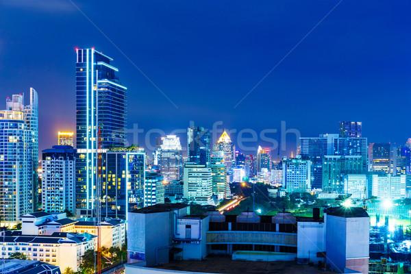 Bangkok skyline nacht business kantoor tuin Stockfoto © leungchopan
