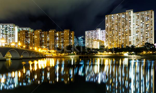 Nyilvános lakásügy épület Hongkong város otthon Stock fotó © leungchopan