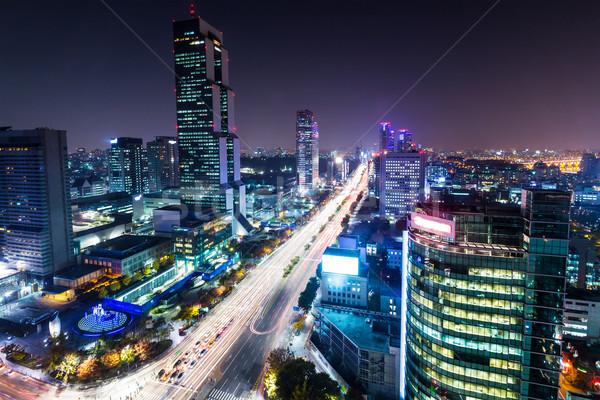 Kerület Szöul üzlet út város tájkép Stock fotó © leungchopan