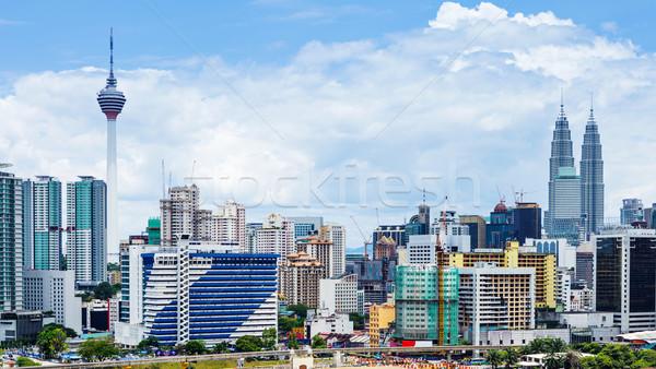Kuala Lumpur stad business hemel kantoor stedelijke Stockfoto © leungchopan