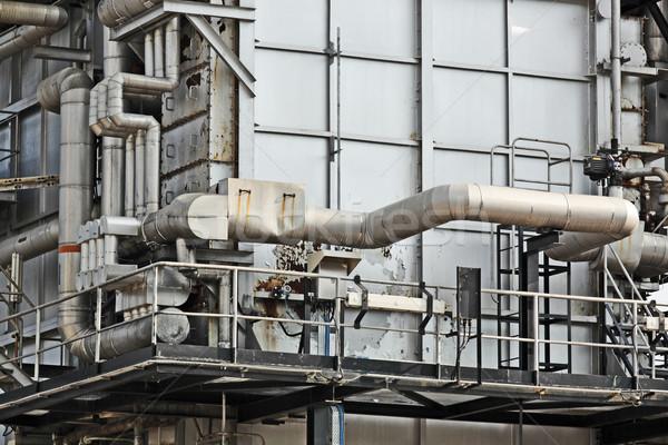 Photo stock: Industrielle · bâtiment · acier · technologie · pétrolières · usine