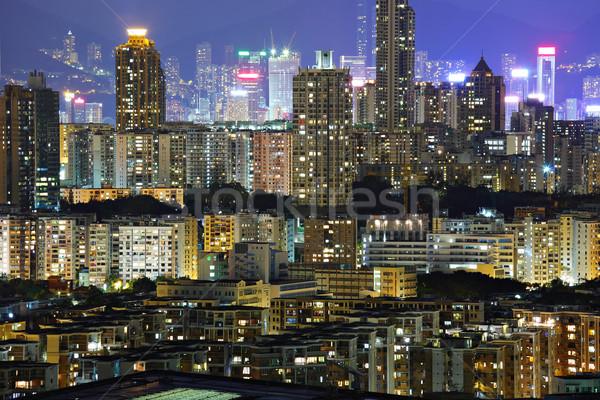 building at night in Hong Kong Stock photo © leungchopan