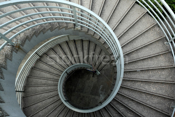 Merdiven güzel Bina inşaat ev arka plan Stok fotoğraf © leungchopan